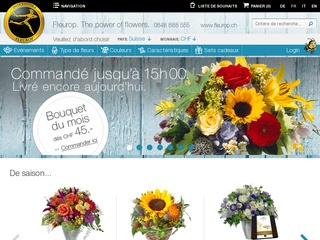 Fleurop.ch - Livraison de fleurs en suisse pas cher